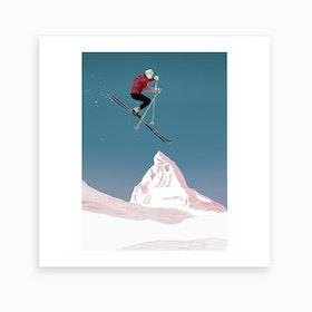 Mountain Love   Skier Art Print