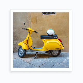 Yellow Vespa Art Print