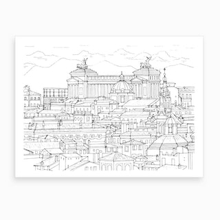 Panoramic View Of Rome Art Print