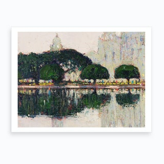 Reflections in the park Art Print