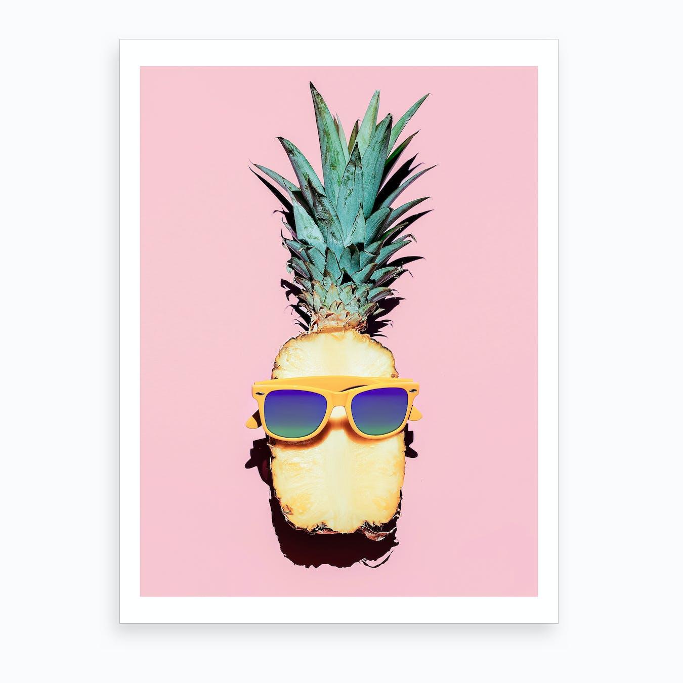 Sunny Pineapple Art Print