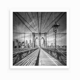 Brooklyn Bridge Square Art Print