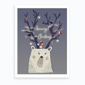 Bearry Christmas Art Print