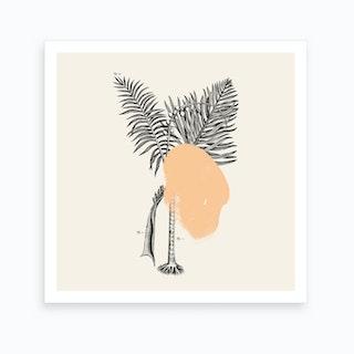 Tropical Tree Peach Art Print