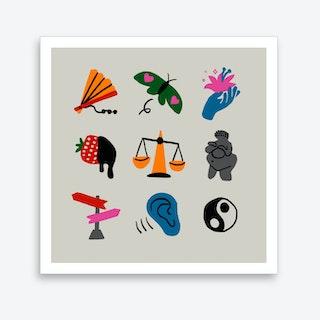 Libra Symbols Art Print