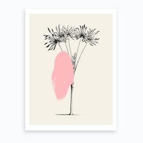 Tropical Tree Light Pink Art Print