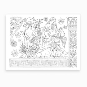 Ara Pacis Temple In Rome Art Print