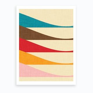 Mid Mod Waves Art Print