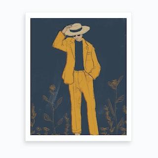 Yellow Beach Art Print