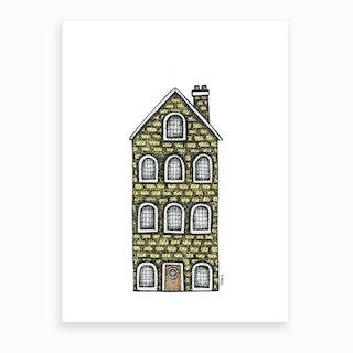 Yellow Canal House  Art Print