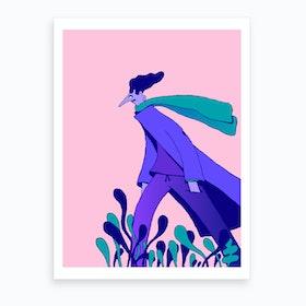 Walking On The Heath Art Print