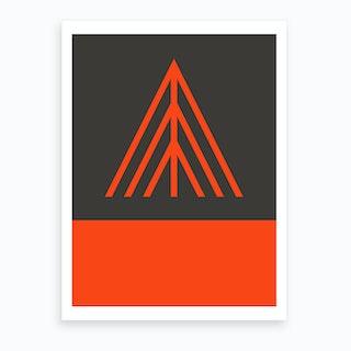 Monte Rosa Orange Art Print