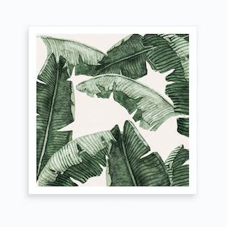Under Palm Leaves2 Art Print