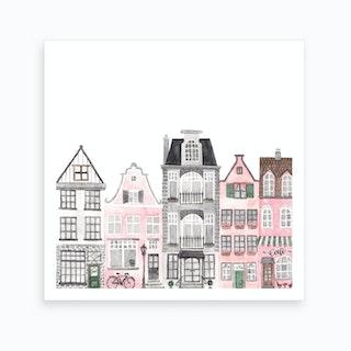 Amsterdam Houses Square Art Print