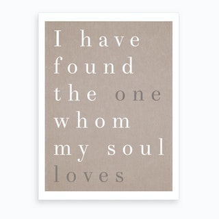 The One My Soul Loves Art Print
