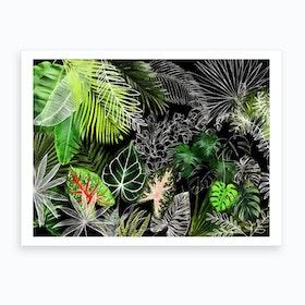 Tropical Foliage 4 Art Print