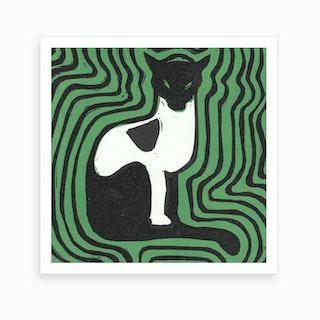 Cat On A Mat 1 Art Print
