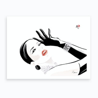 Girl In Lido Art Print