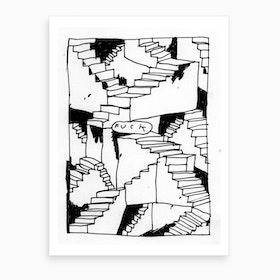 Fucksteps Art Print