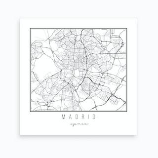Madrid Spain Street Map Art Print