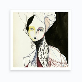 Madame Butterfly Ii 2 Art Print