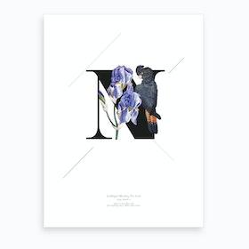 Botanical Alphabet N Art Print