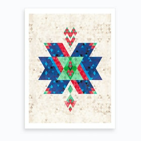 Bohemian Kilim Cross Art Print
