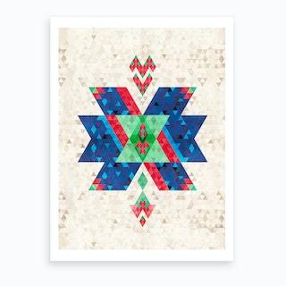 Bohemian Kilim Cross Art Print