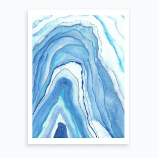 Agate Inspired Watercolor Abstract 1 Art Print
