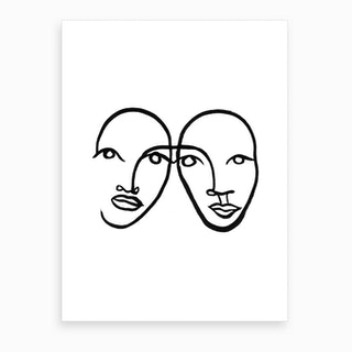 Faces 5 Art Print