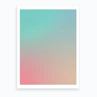 Gradientblocks 9 Art Print