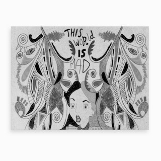 Alice In Wonderland Black And White Art Print