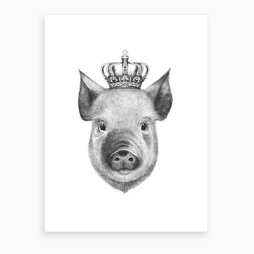 The King Pig Art Print