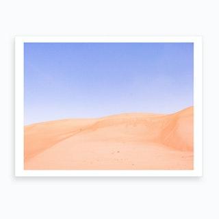 Sandy Desert Landscape Oman 2 Art Print