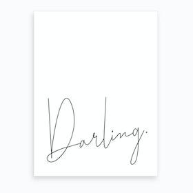 Darling Art Print