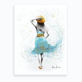Her Morning Walk Art Print