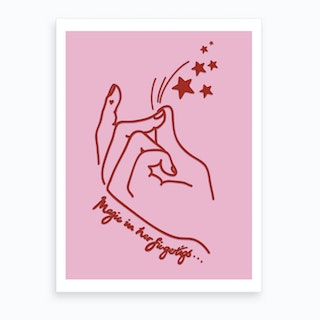 Magic In Her Fingertips Art Print