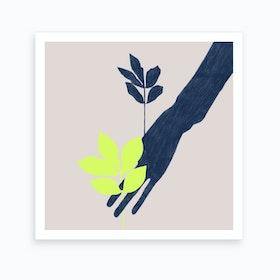 Leaf Shadow 2 Art Print