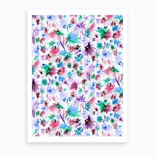 Abstract Jungle Colors Art Print