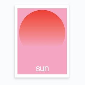 Pink Sun Art Print