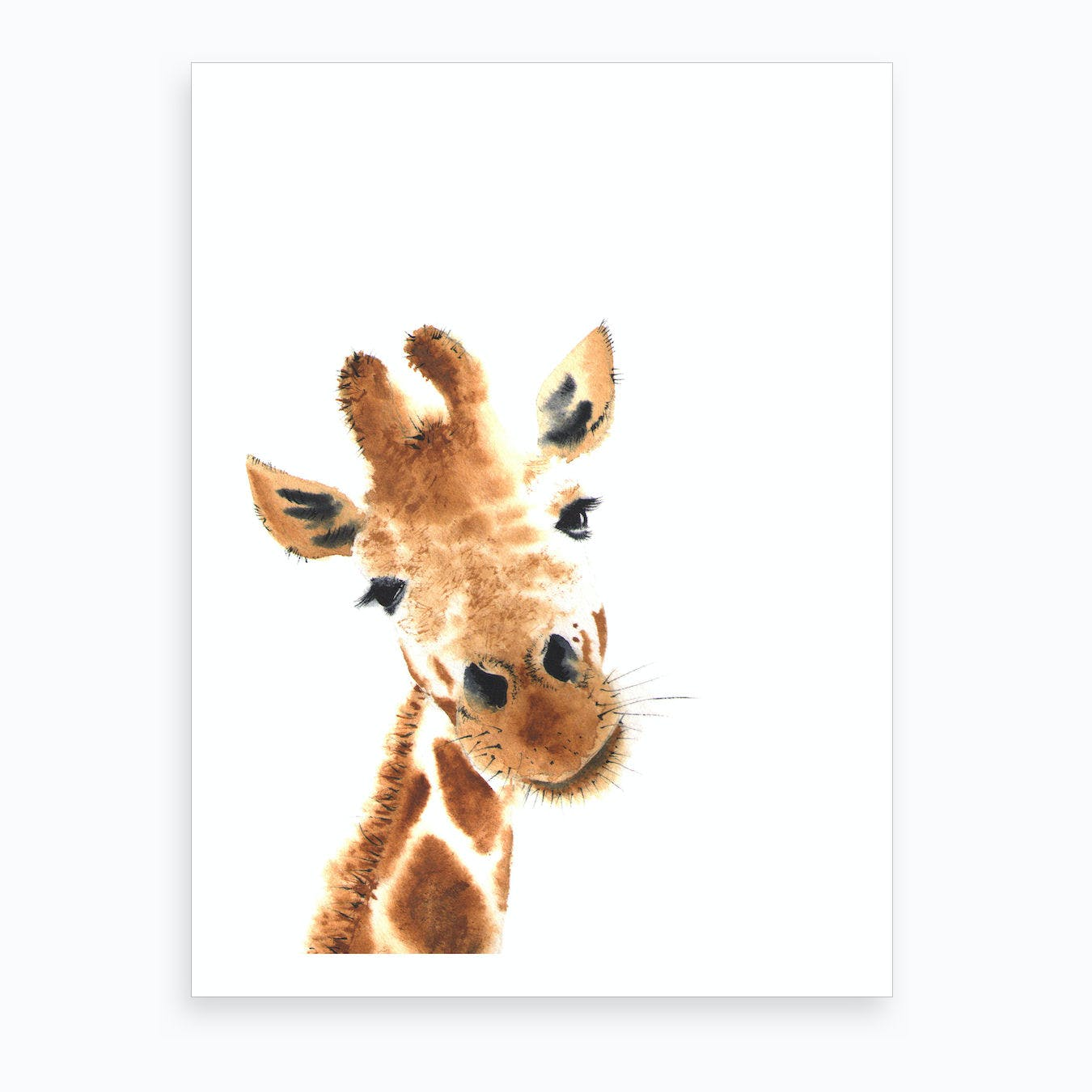 Little One Giraffe Art Print