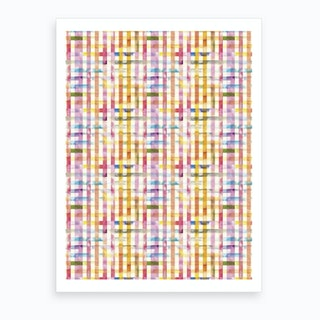 Gingham Vichy Yellow Art Print