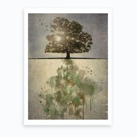 Horizon Tree Art Print