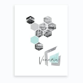 Urban Design Venezia Turquoise Art Print