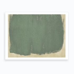 Minimal Abstract Green Colorfield Painting 1 Art Print