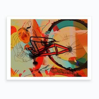 On The High Road, Bike Art Print