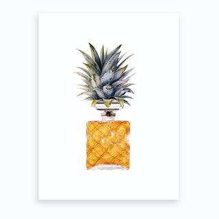 Pineapple Perfume Bottle Art Print