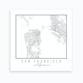 San Francisco California Street Map Art Print