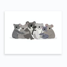 Koala Family Art Print