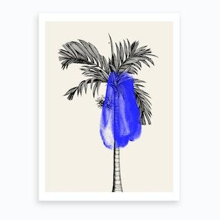 Tropical Tree Blue Art Print